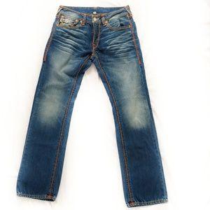 True Religion Mega T Flap Straight Jeans 33